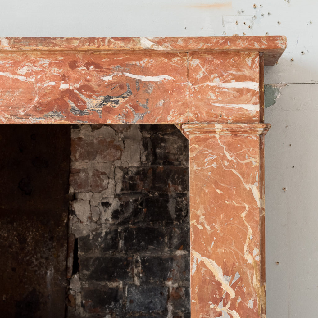 Early twentieth century faux-marble fireplace,
