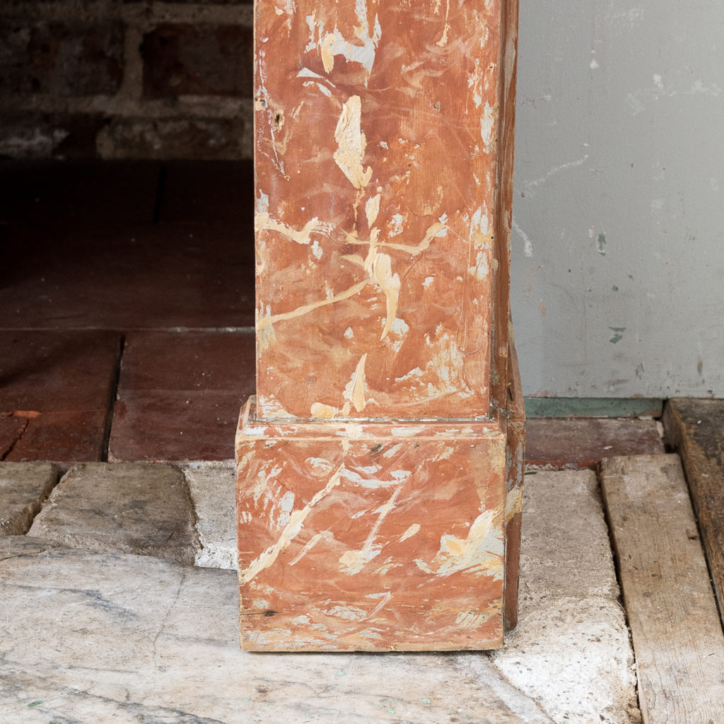 Early twentieth century faux-marble fireplace,-139533