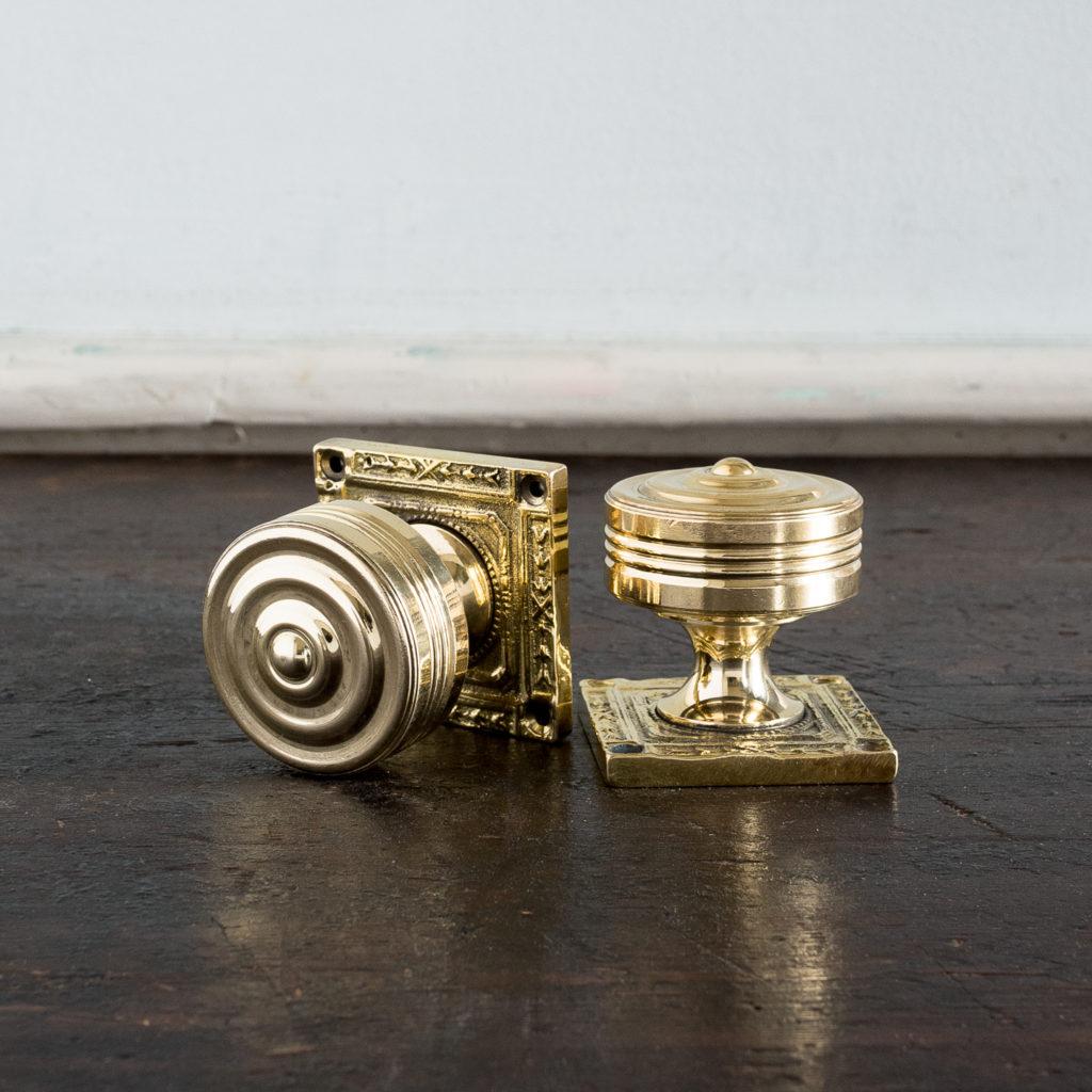 Georgian style brass door knobs,