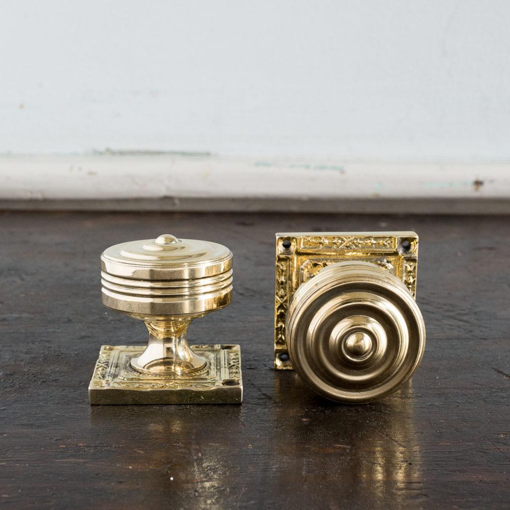Georgian style brass door knobs,-138848