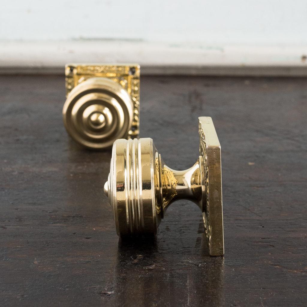 Georgian style brass door knobs,-138850