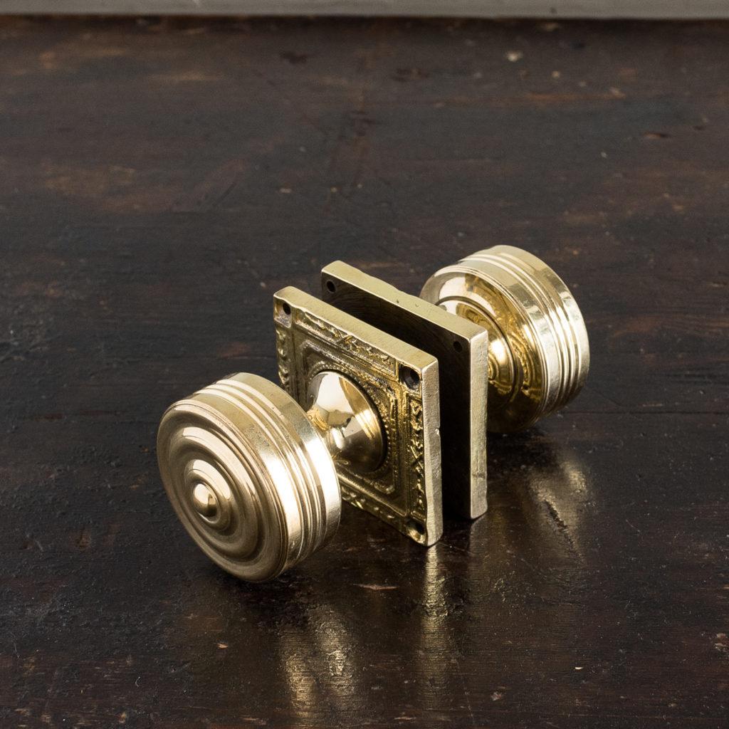 Georgian style brass door knobs,-138851