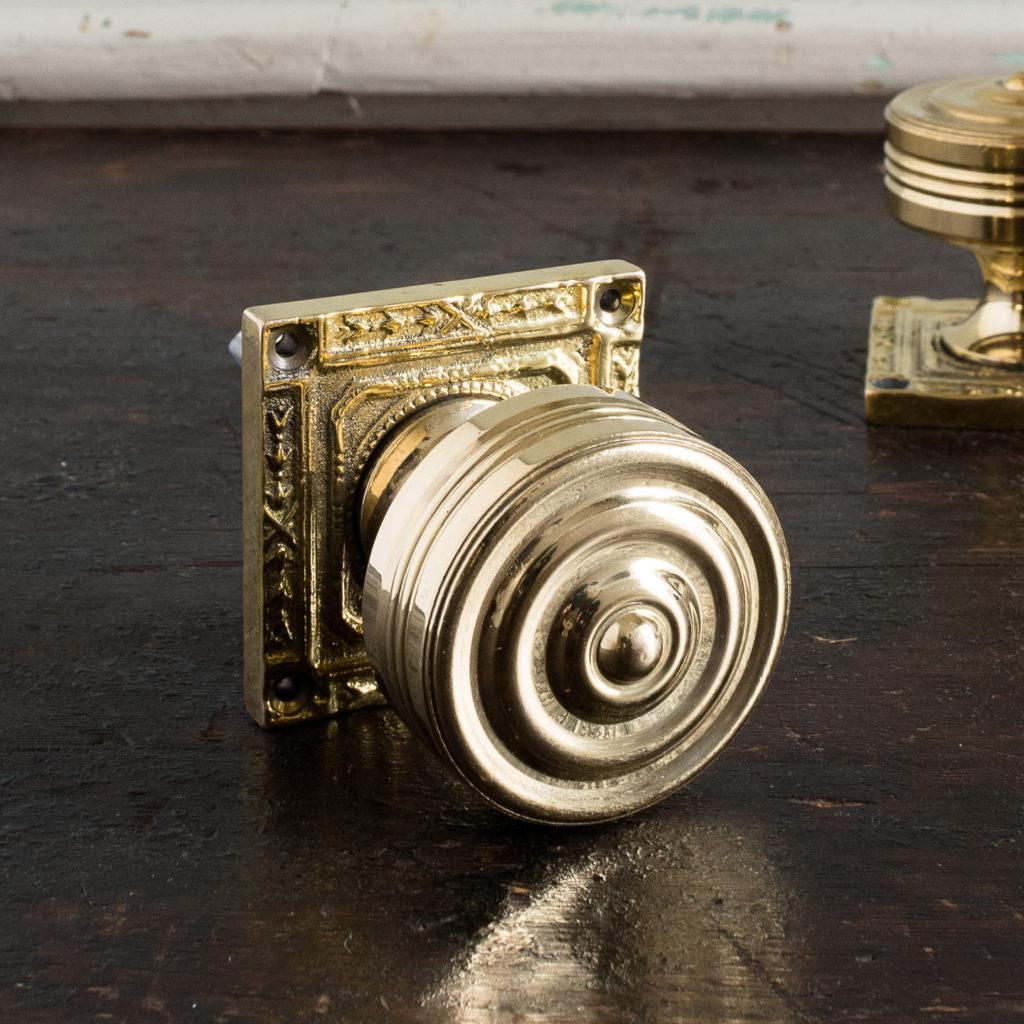 Georgian style brass door knobs,-138852