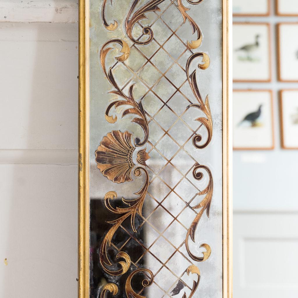 1950s Italian brass bound mirror,-139296
