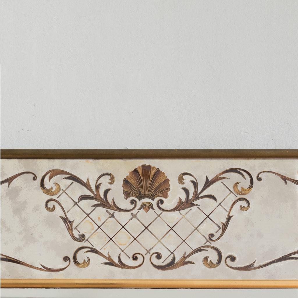 1950s Italian brass bound mirror,-139288