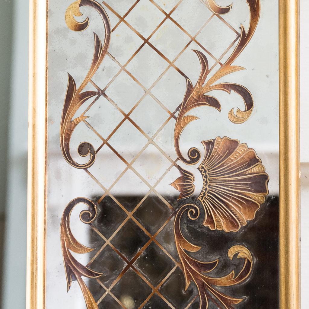 1950s Italian brass bound mirror,-139295