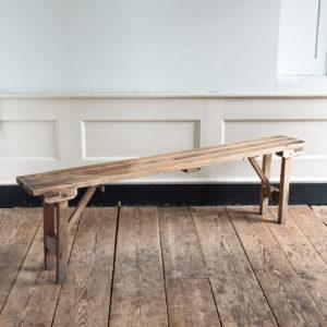 Twentieth century beech folding bench,