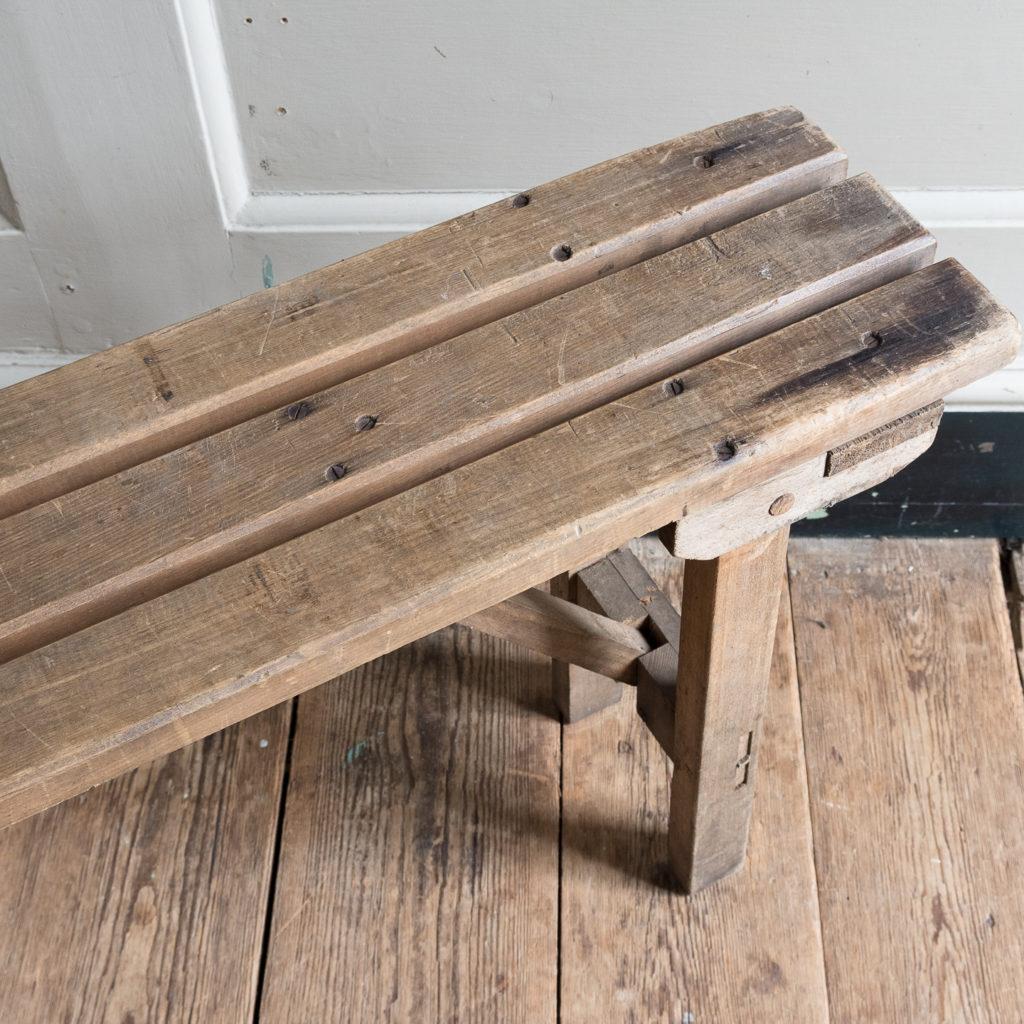 Twentieth century beech folding bench,-139354