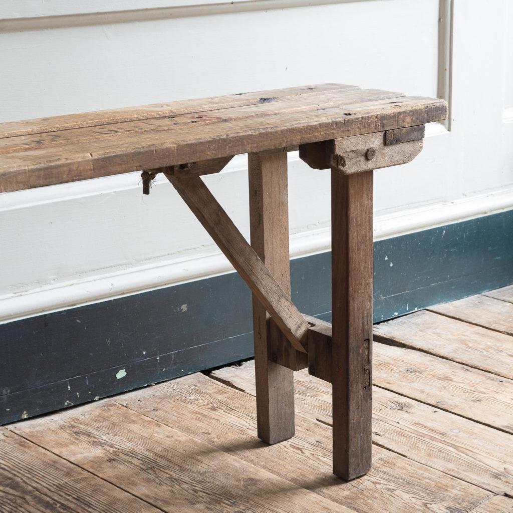 Twentieth century beech folding bench,-139356