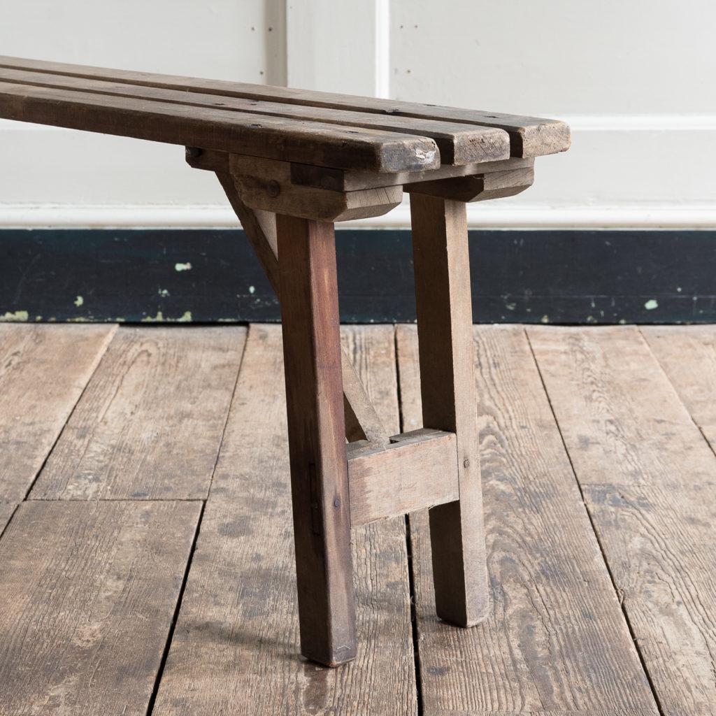 Twentieth century beech folding bench,-139357
