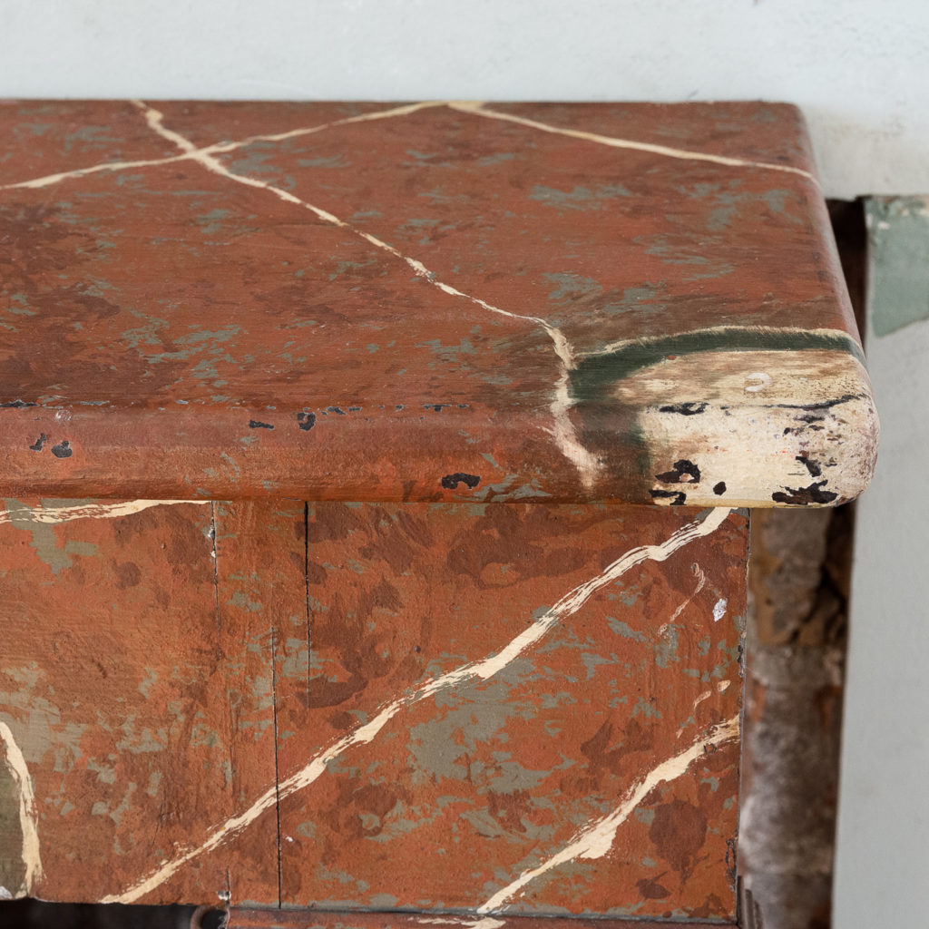 French faux-marble timber fireplace,-139422
