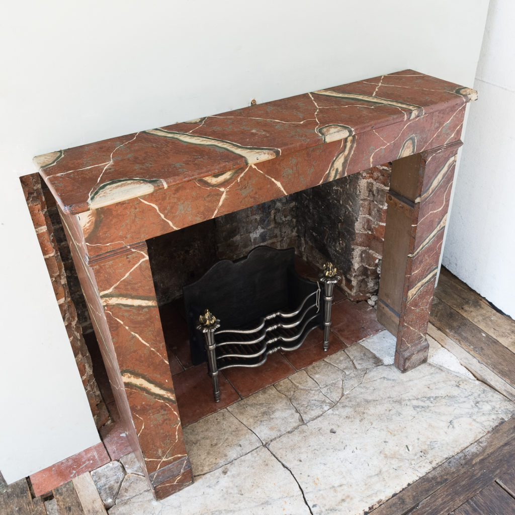 French faux-marble timber fireplace,-139424