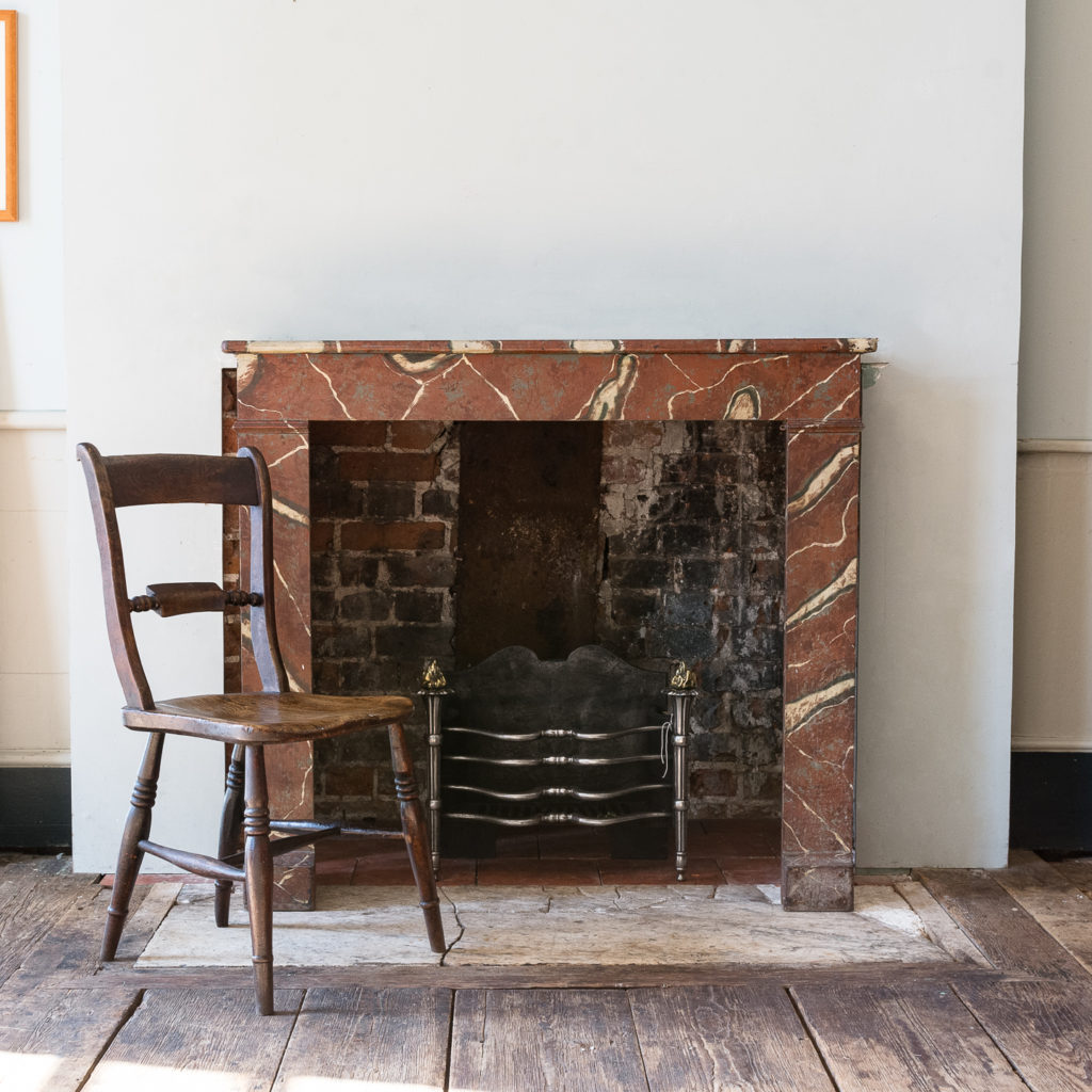 French faux-marble timber fireplace,-139425
