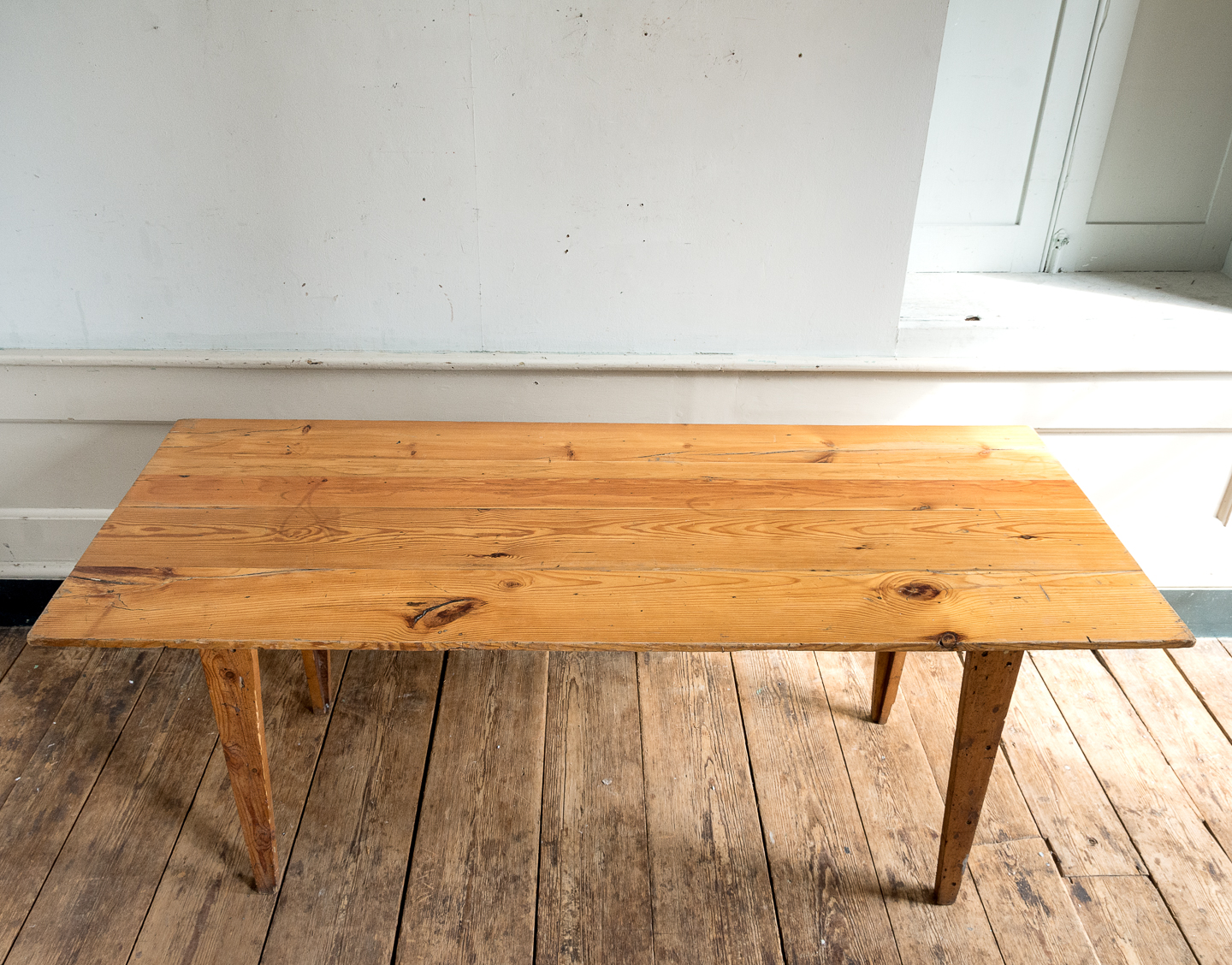 Made by LASSCO 6ft pine dining table,-139583