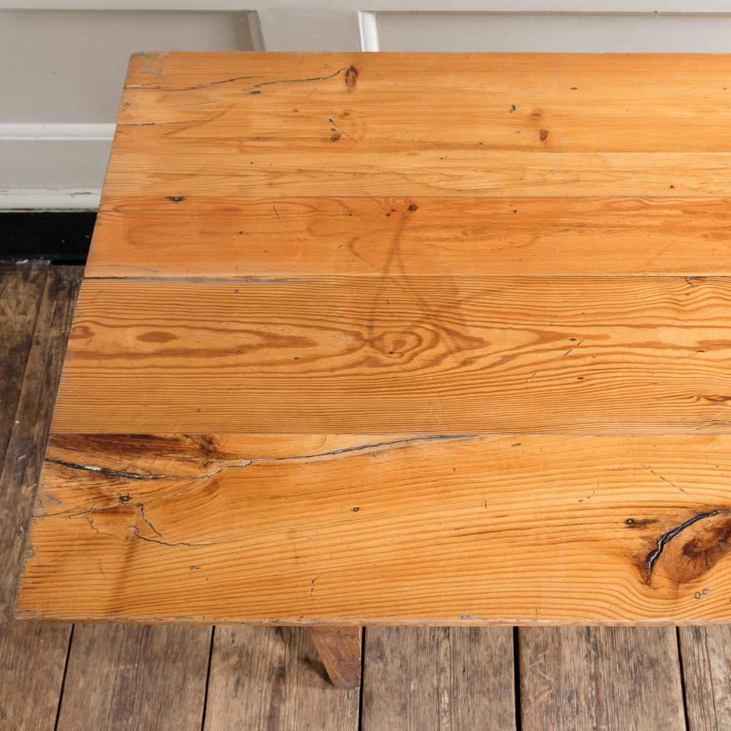 Made by LASSCO 6ft pine dining table,-139587