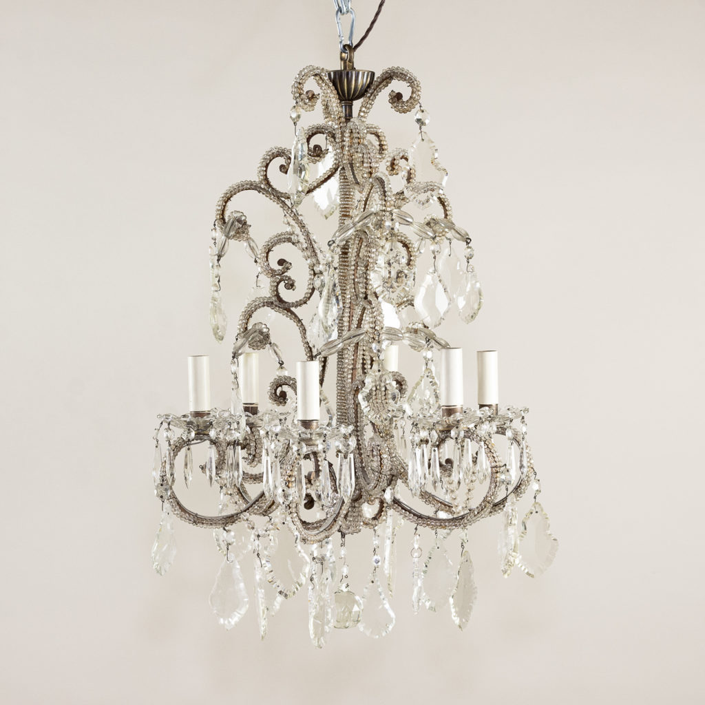 Pair of early twentieth century French chandeliers,