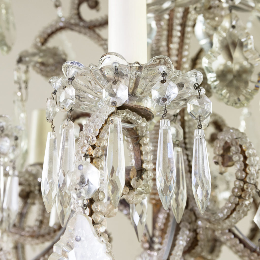 Pair of early twentieth century French chandeliers, -139207