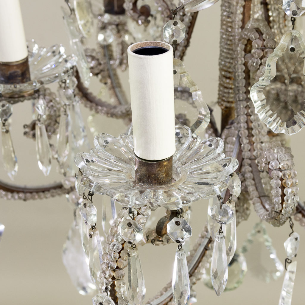 Pair of early twentieth century French chandeliers, -139209