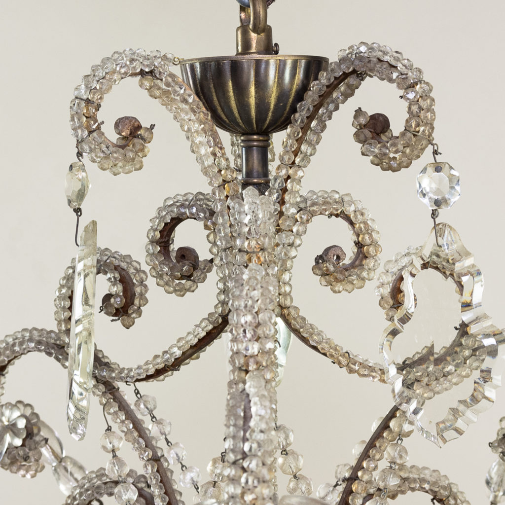 Pair of early twentieth century French chandeliers, -139200