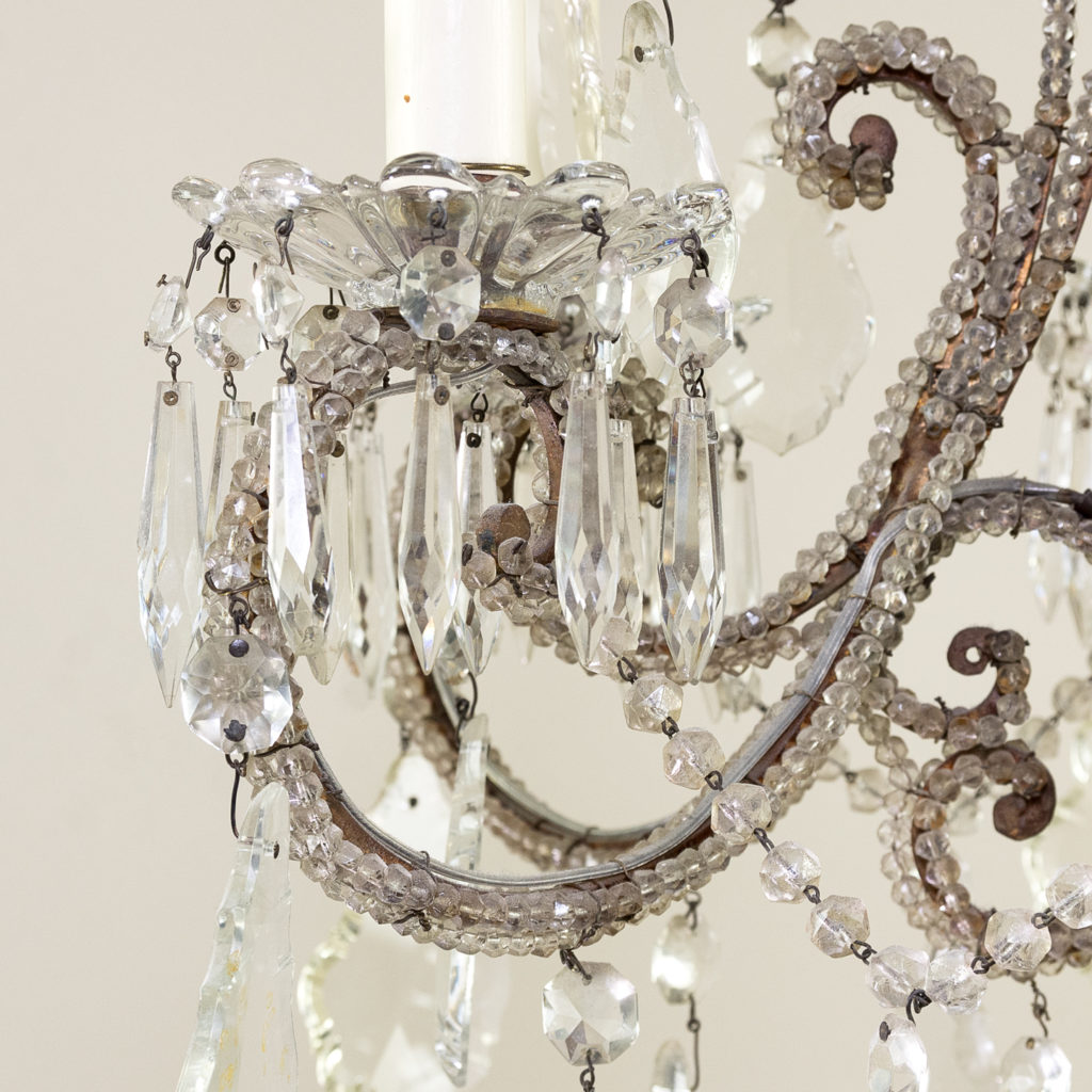 Pair of early twentieth century French chandeliers, -139203