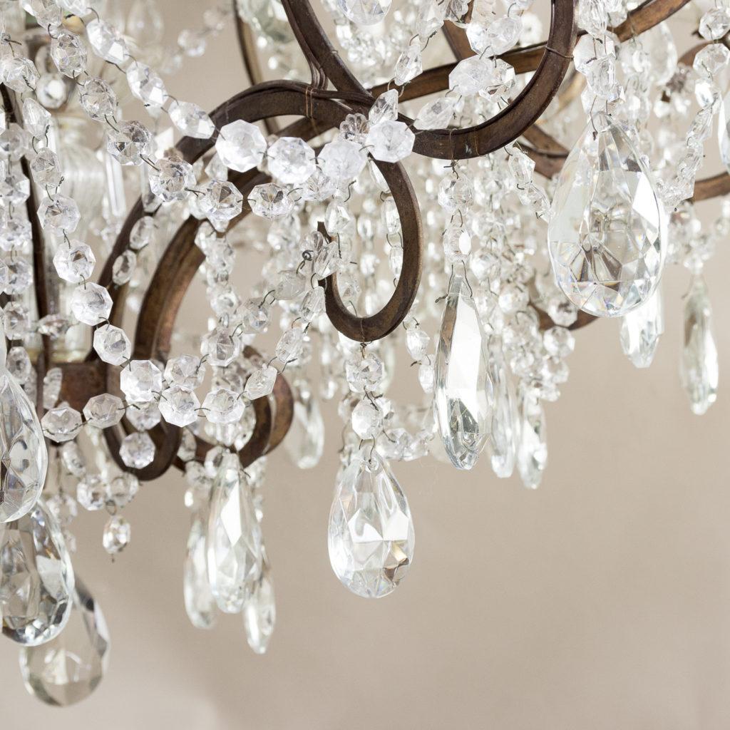 Twentieth century Continental eighteen light moulded glass chandelier, -139167