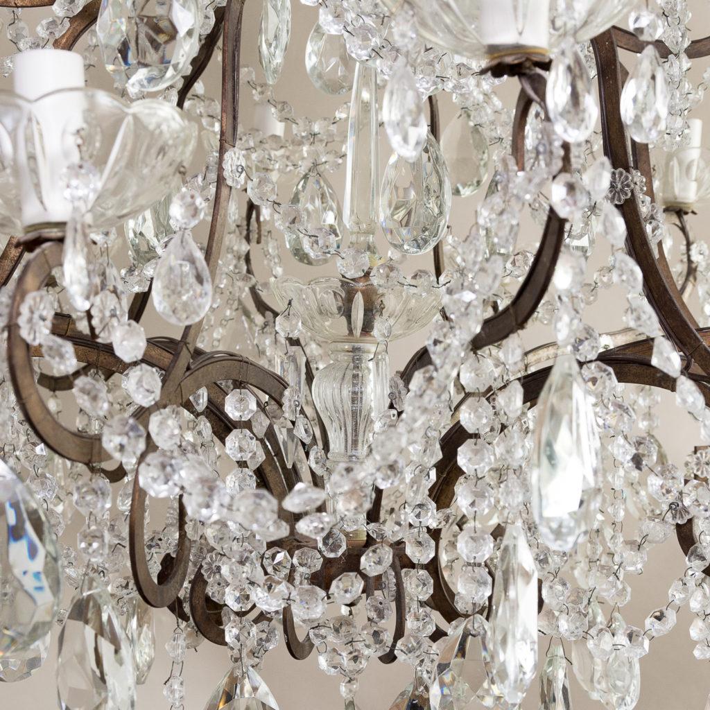 Twentieth century Continental eighteen light moulded glass chandelier, -139168