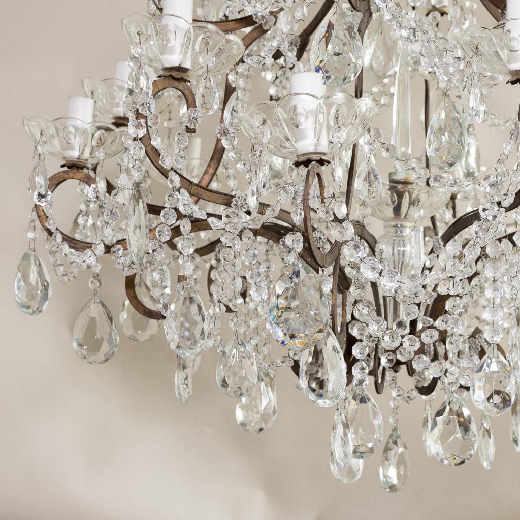 Twentieth century Continental eighteen light moulded glass chandelier, -139169