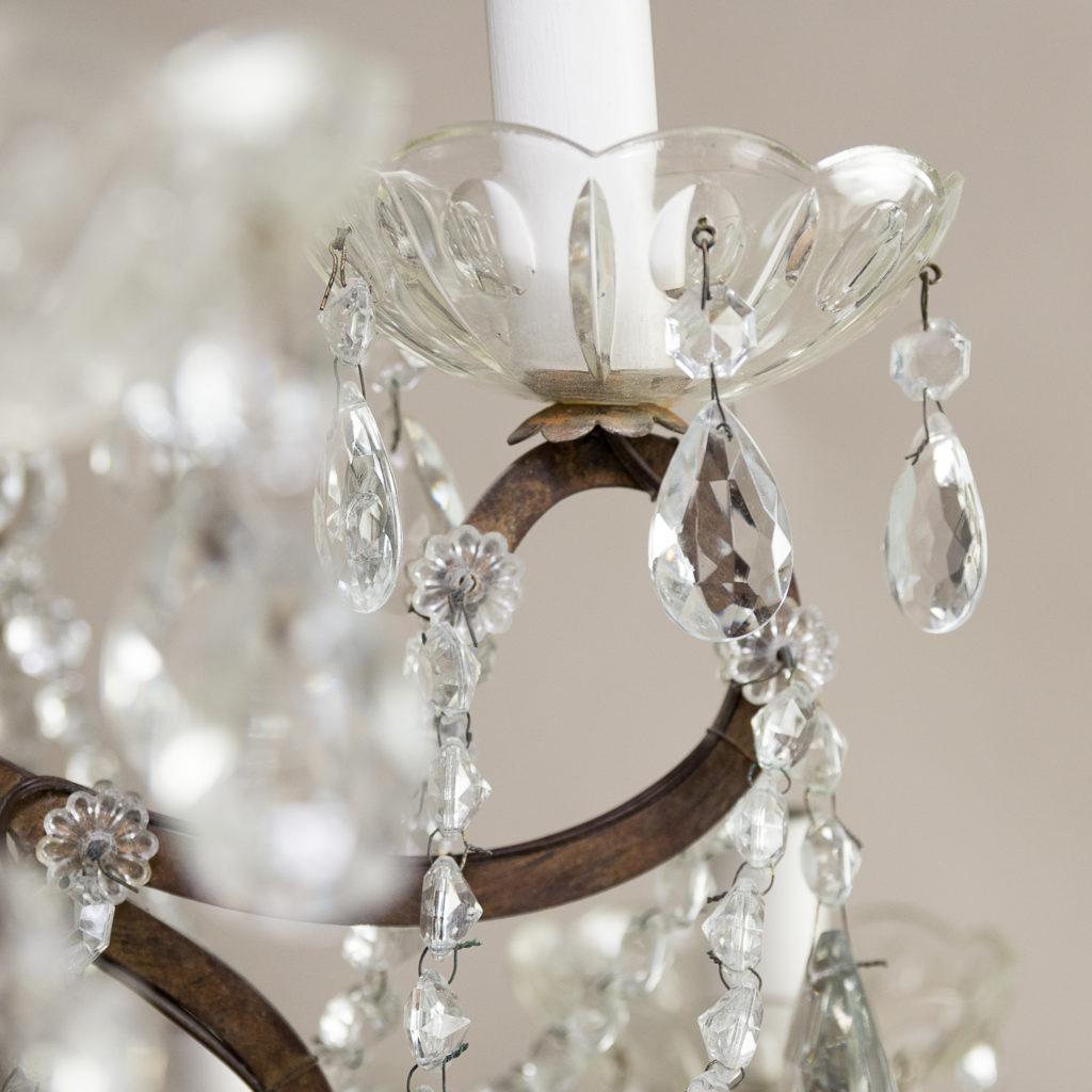 Twentieth century Continental eighteen light moulded glass chandelier, -139171