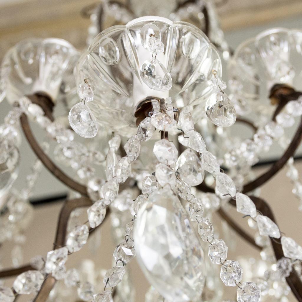 Twentieth century Continental eighteen light moulded glass chandelier, -139173
