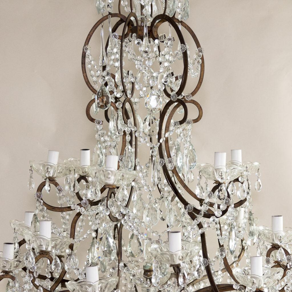 Twentieth century Continental eighteen light moulded glass chandelier, -139174