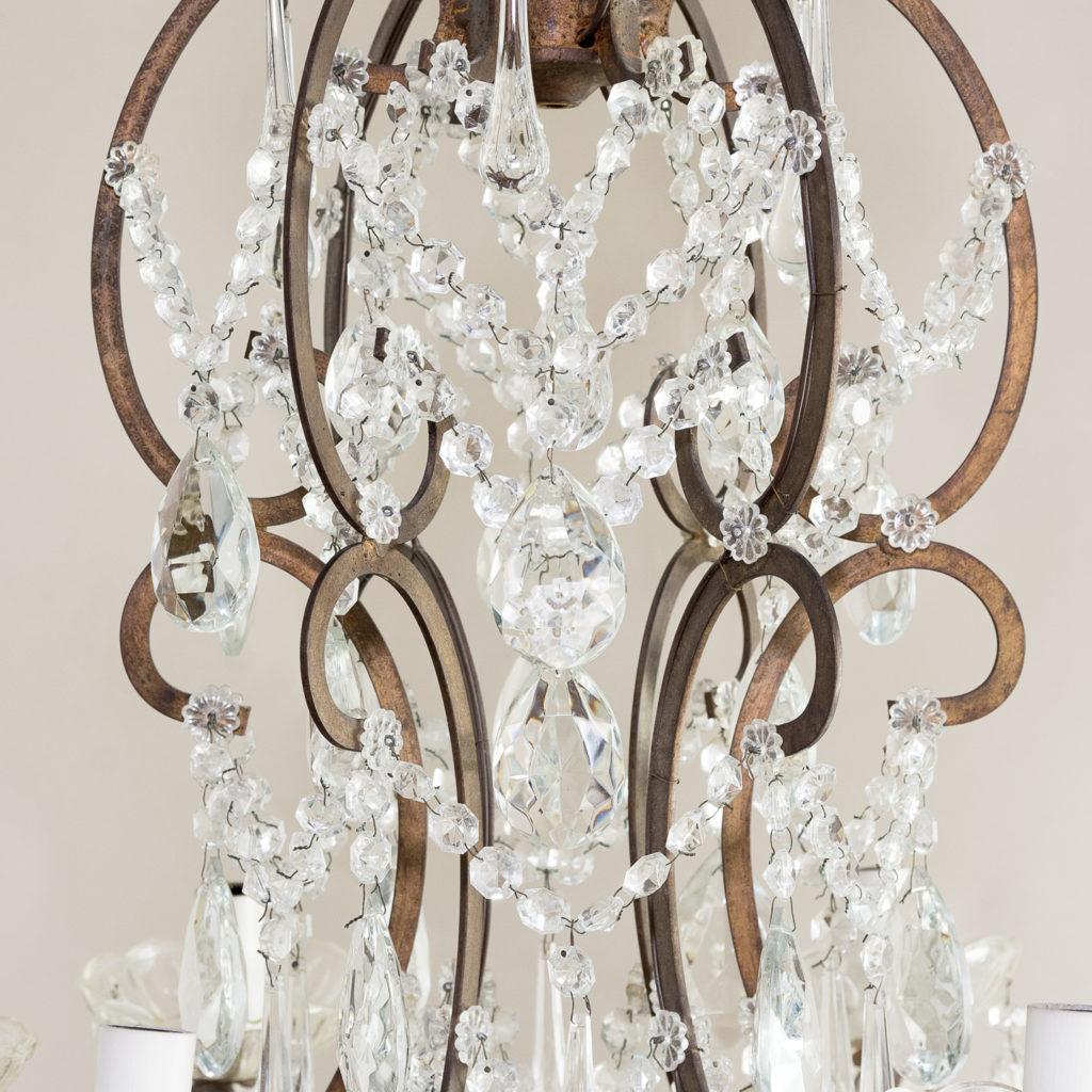 Twentieth century Continental eighteen light moulded glass chandelier, -139160