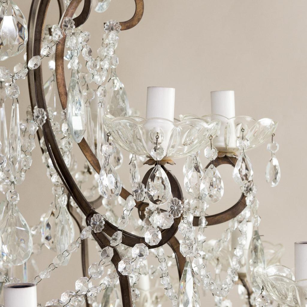 Twentieth century Continental eighteen light moulded glass chandelier, -139161