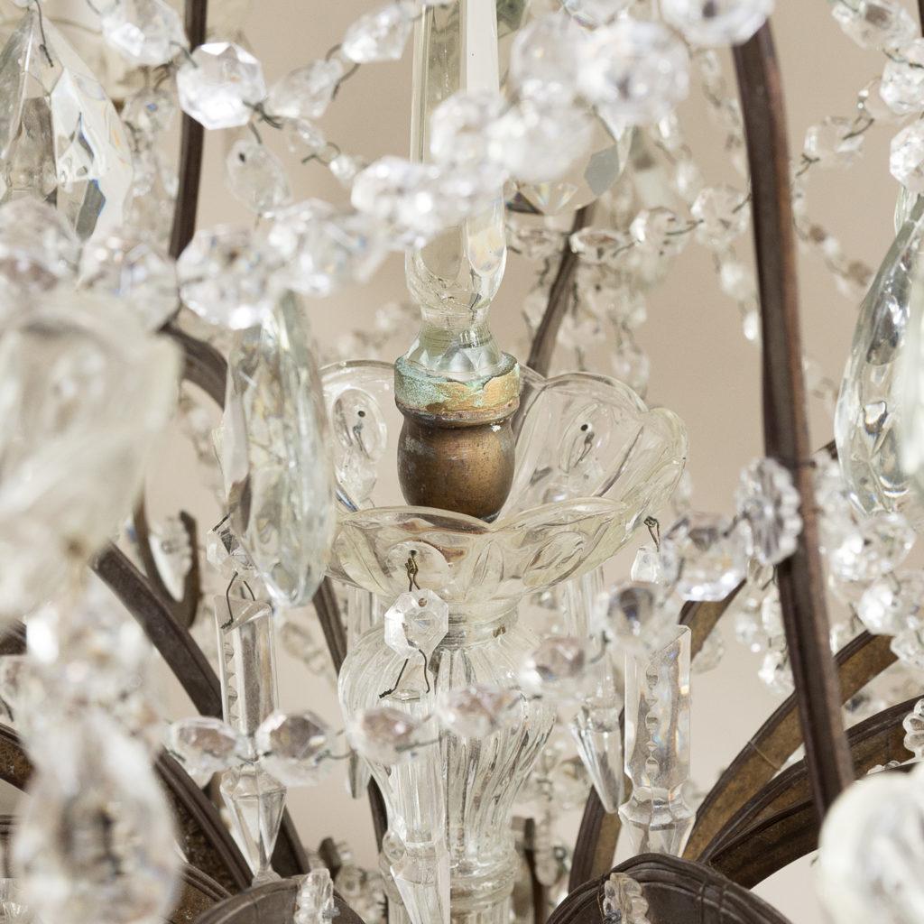 Twentieth century Continental eighteen light moulded glass chandelier, -139162