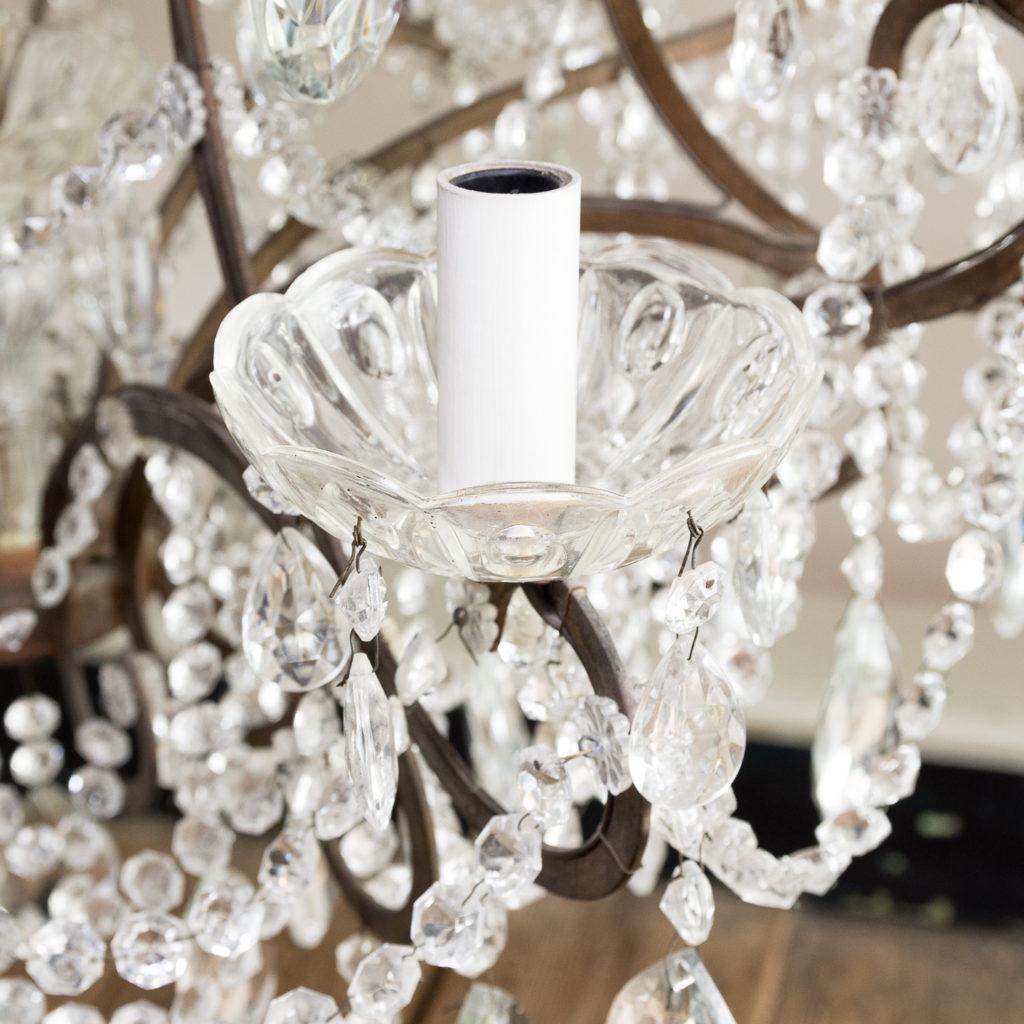 Twentieth century Continental eighteen light moulded glass chandelier, -139163