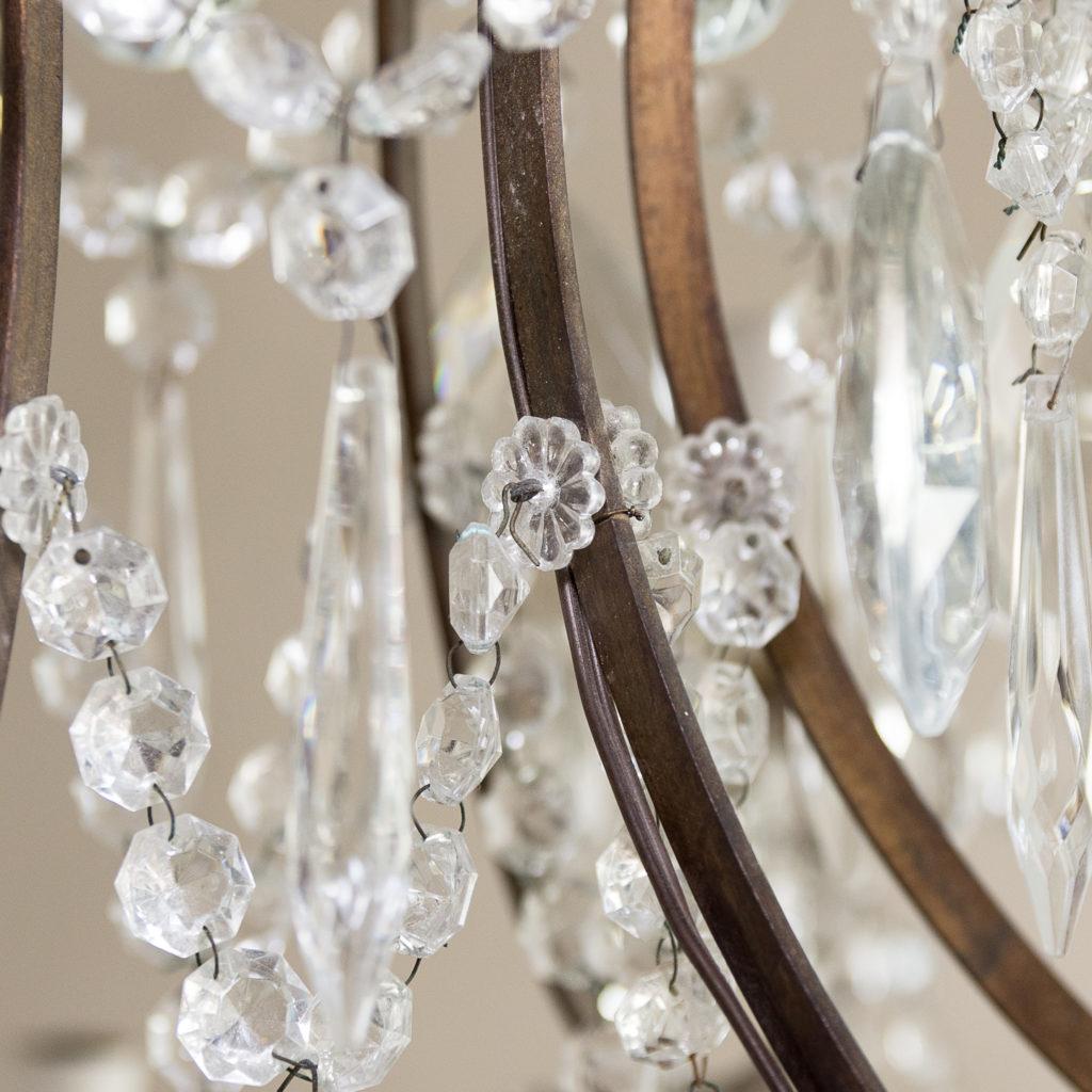 Twentieth century Continental eighteen light moulded glass chandelier, -139164