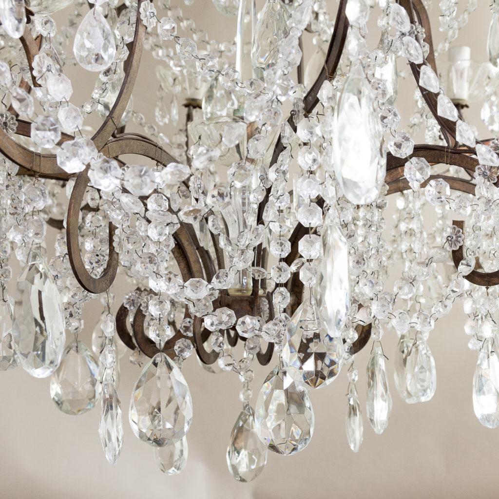 Twentieth century Continental eighteen light moulded glass chandelier, -139165