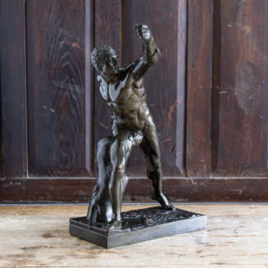 Early twentieth century bronze sculpture of the Borghese Gladiator,