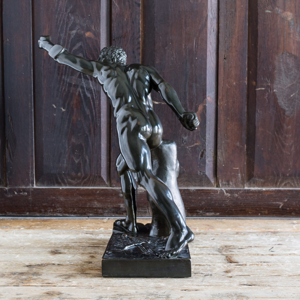 Early twentieth century bronze sculpture of the Borghese Gladiator,