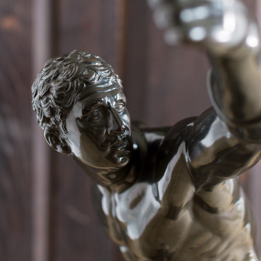 Early twentieth century bronze sculpture of the Borghese Gladiator, -138928