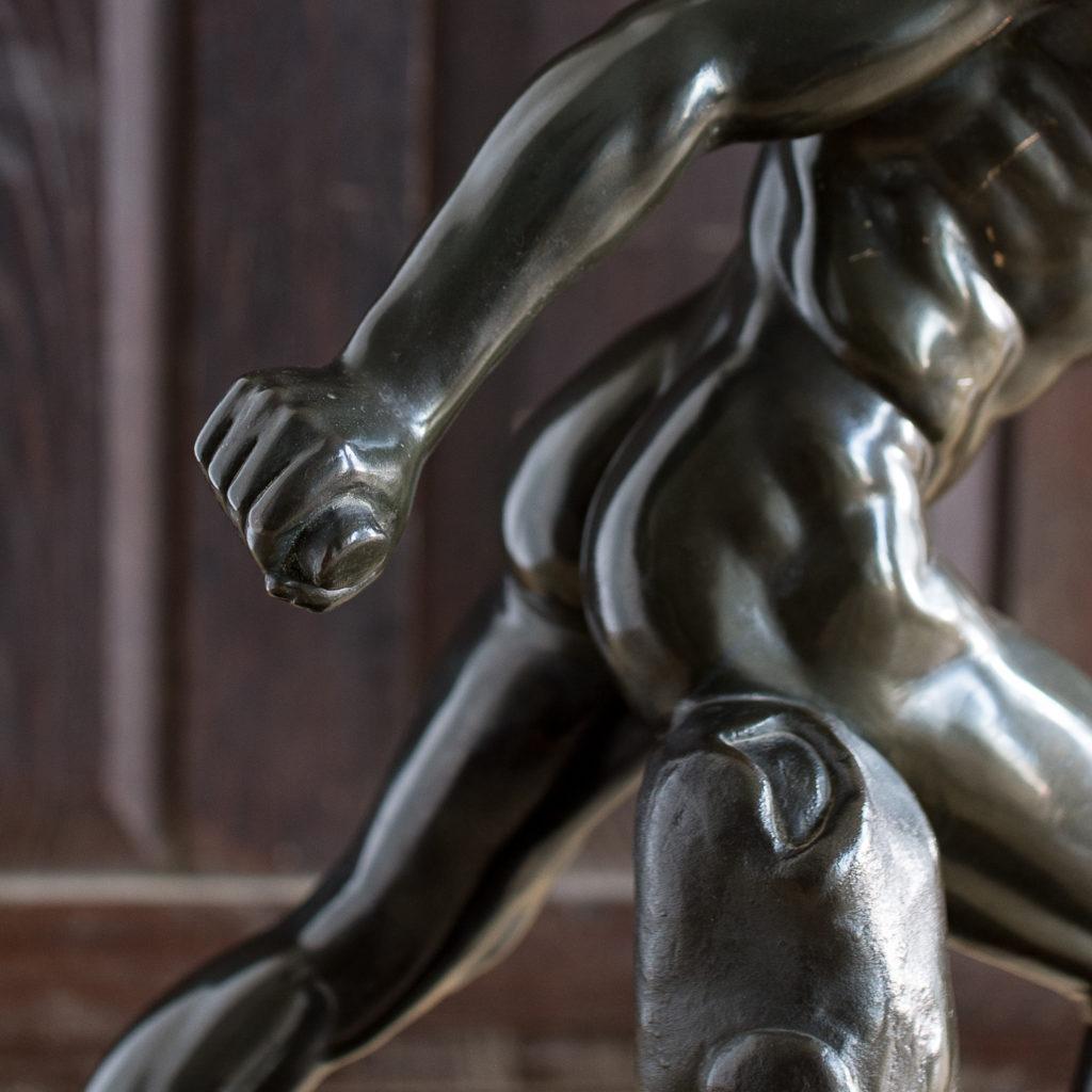 Early twentieth century bronze sculpture of the Borghese Gladiator, -138927
