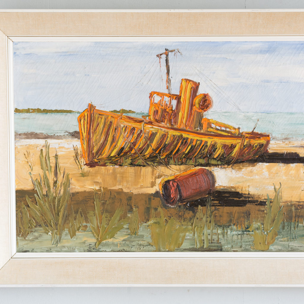 1960s oil-on-canvas of Dungeness Beach,