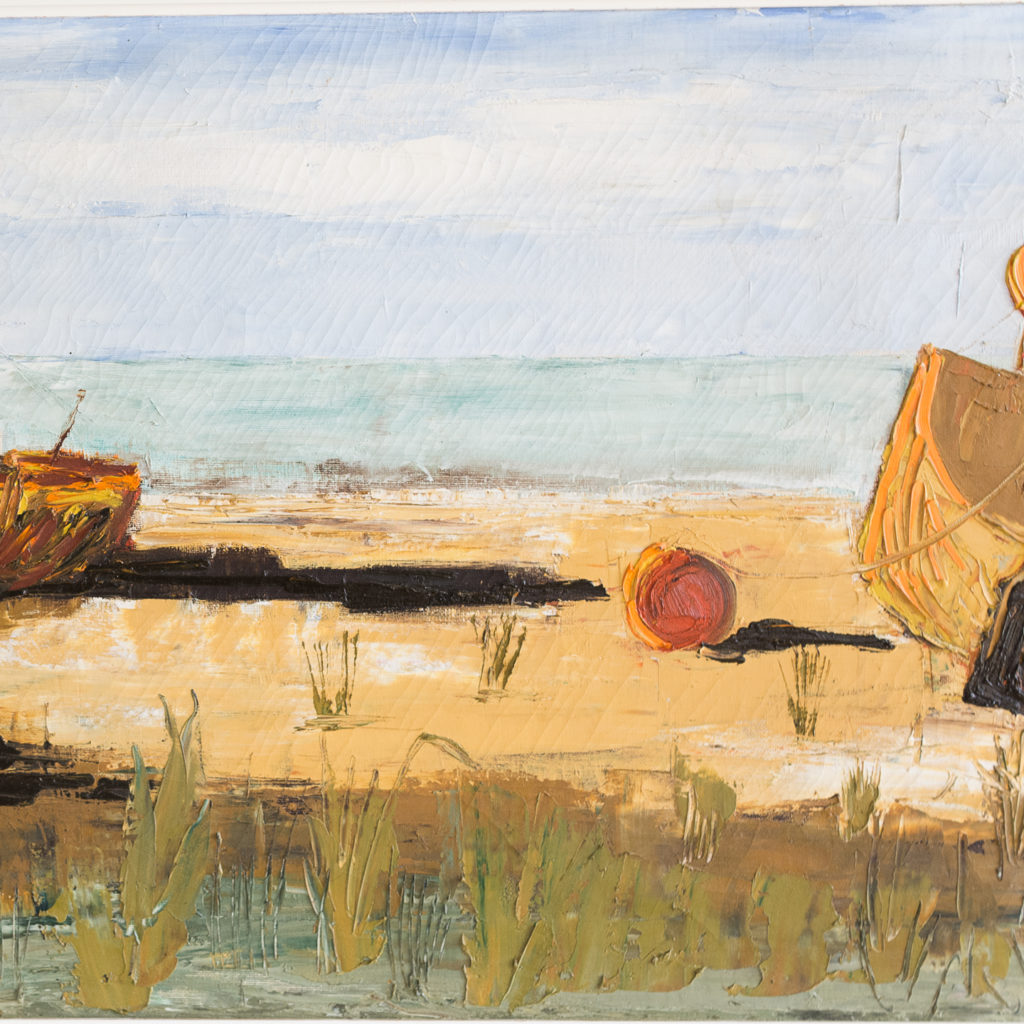 1960s oil-on-canvas of Dungeness Beach, -138912