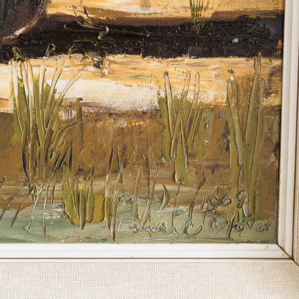 1960s oil-on-canvas of Dungeness Beach, -138913