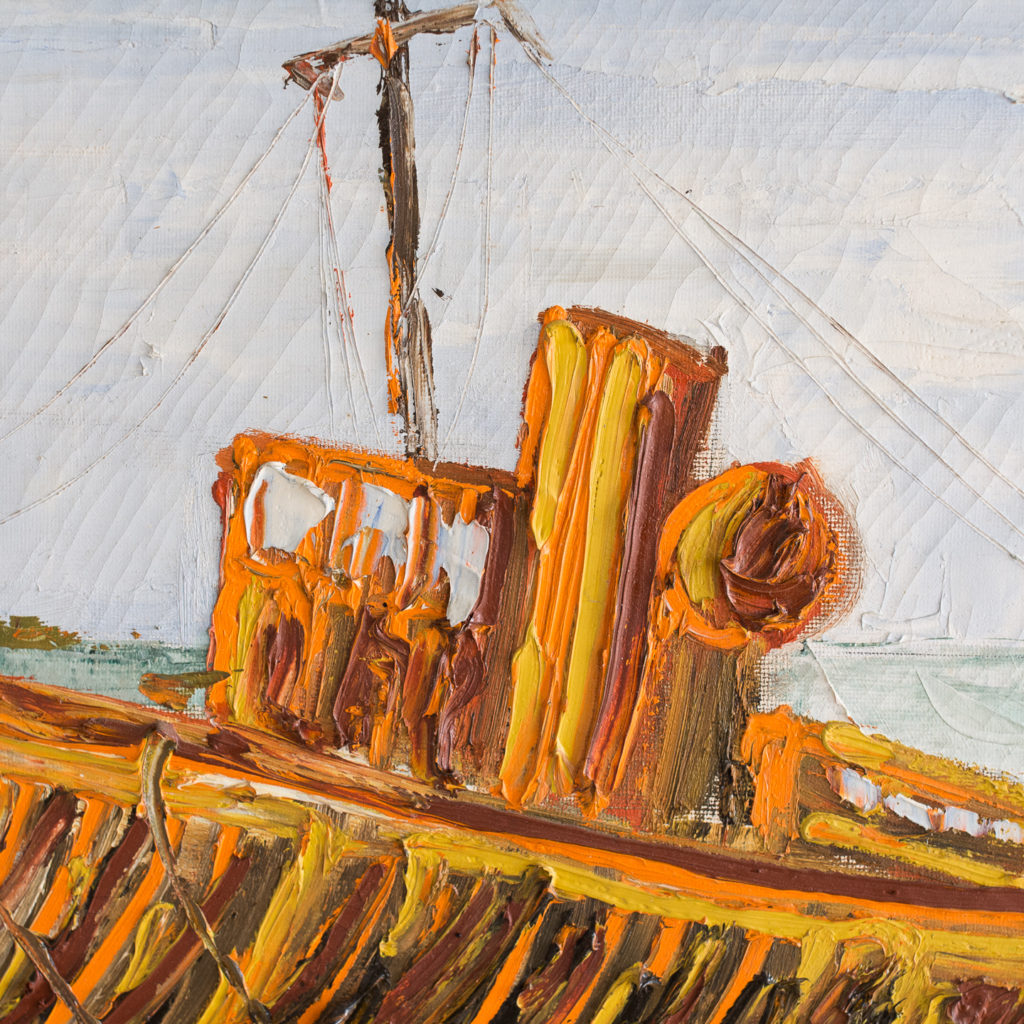 1960s oil-on-canvas of Dungeness Beach, -138915