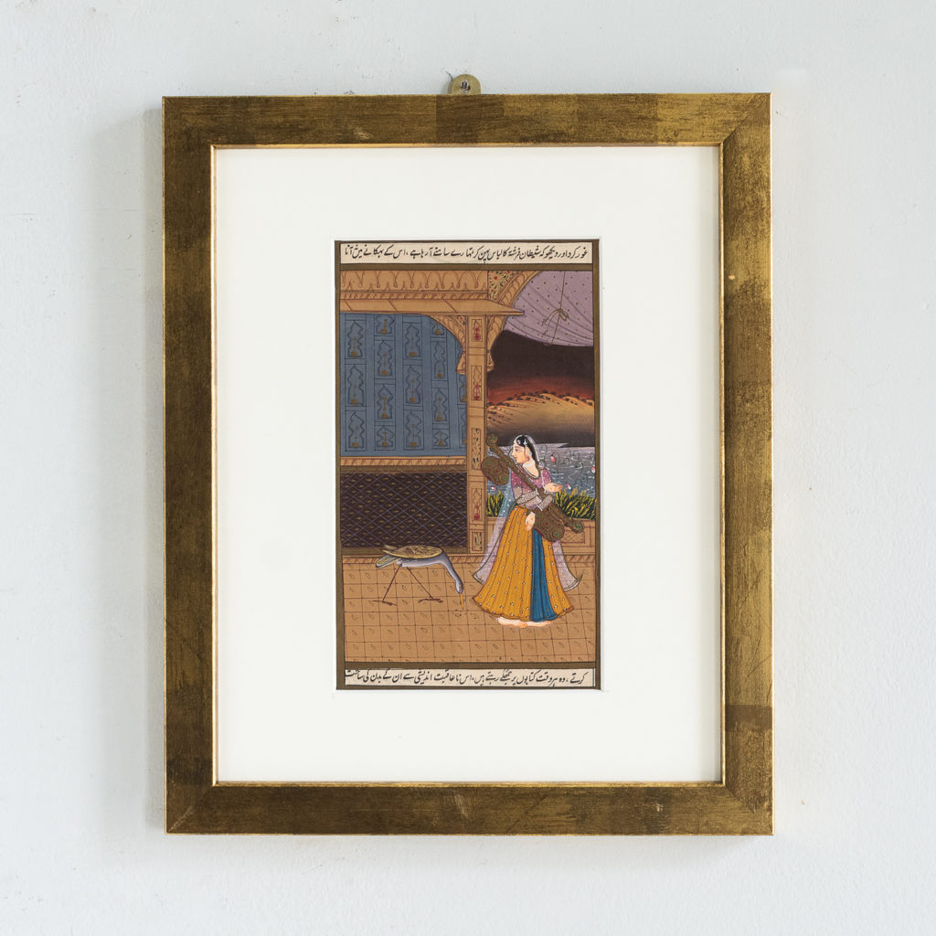 Persian miniature watercolour-0