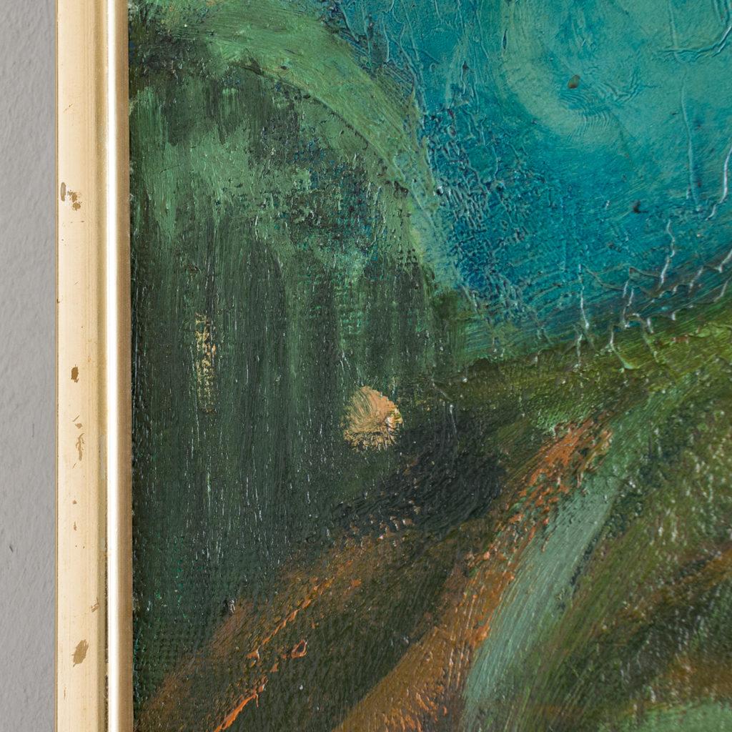 Huse ved Bakken, Aften, 1945 by Hans Øllgaard,-139275