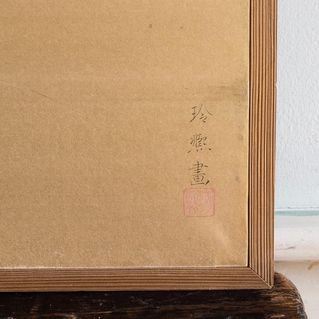 Hand-painted Furosaki-byobu screen of Butterflies, by Reiki Yamaguchi-139449