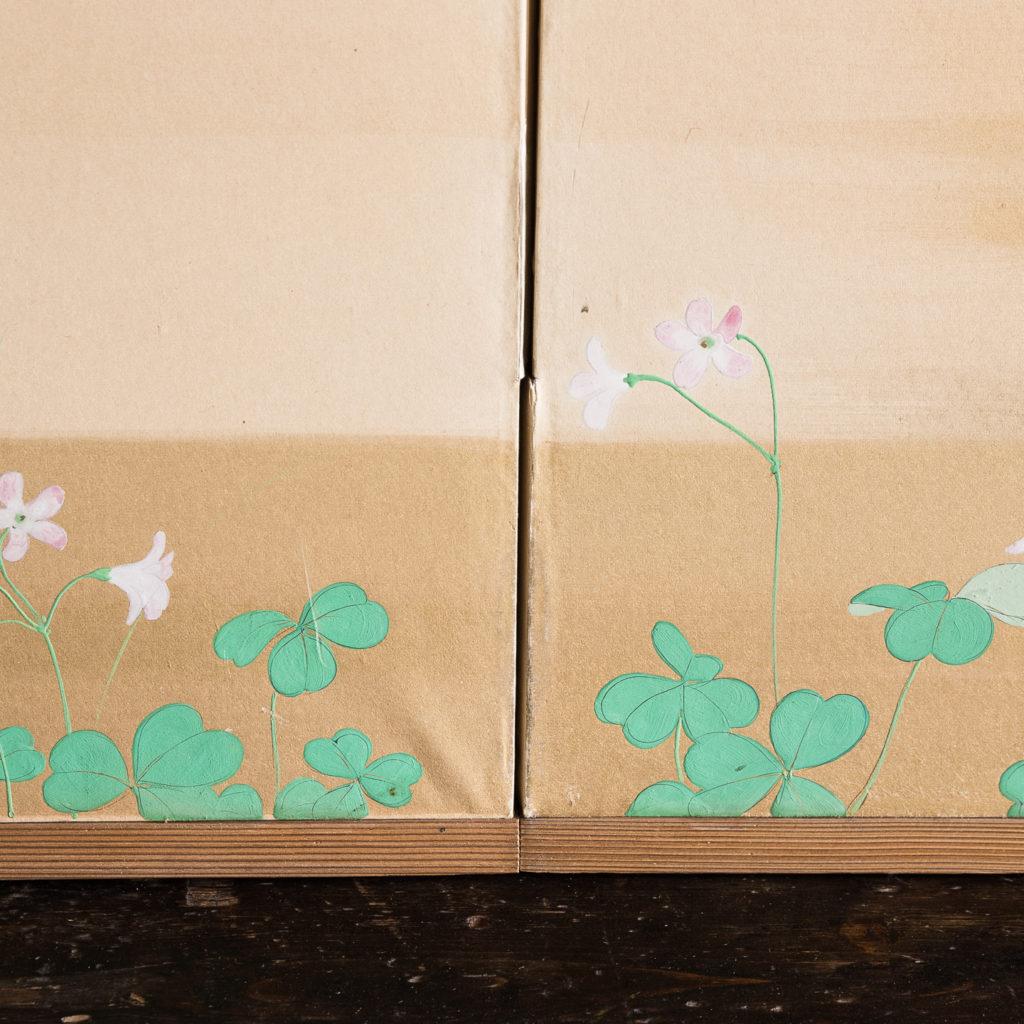 Hand-painted Furosaki-byobu screen of Butterflies, by Reiki Yamaguchi-139451
