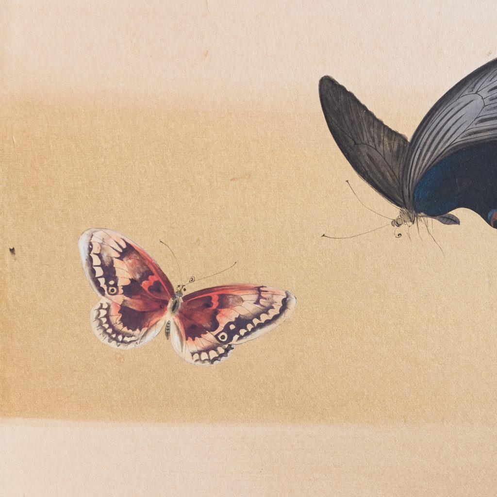 Hand-painted Furosaki-byobu screen of Butterflies, by Reiki Yamaguchi-139452