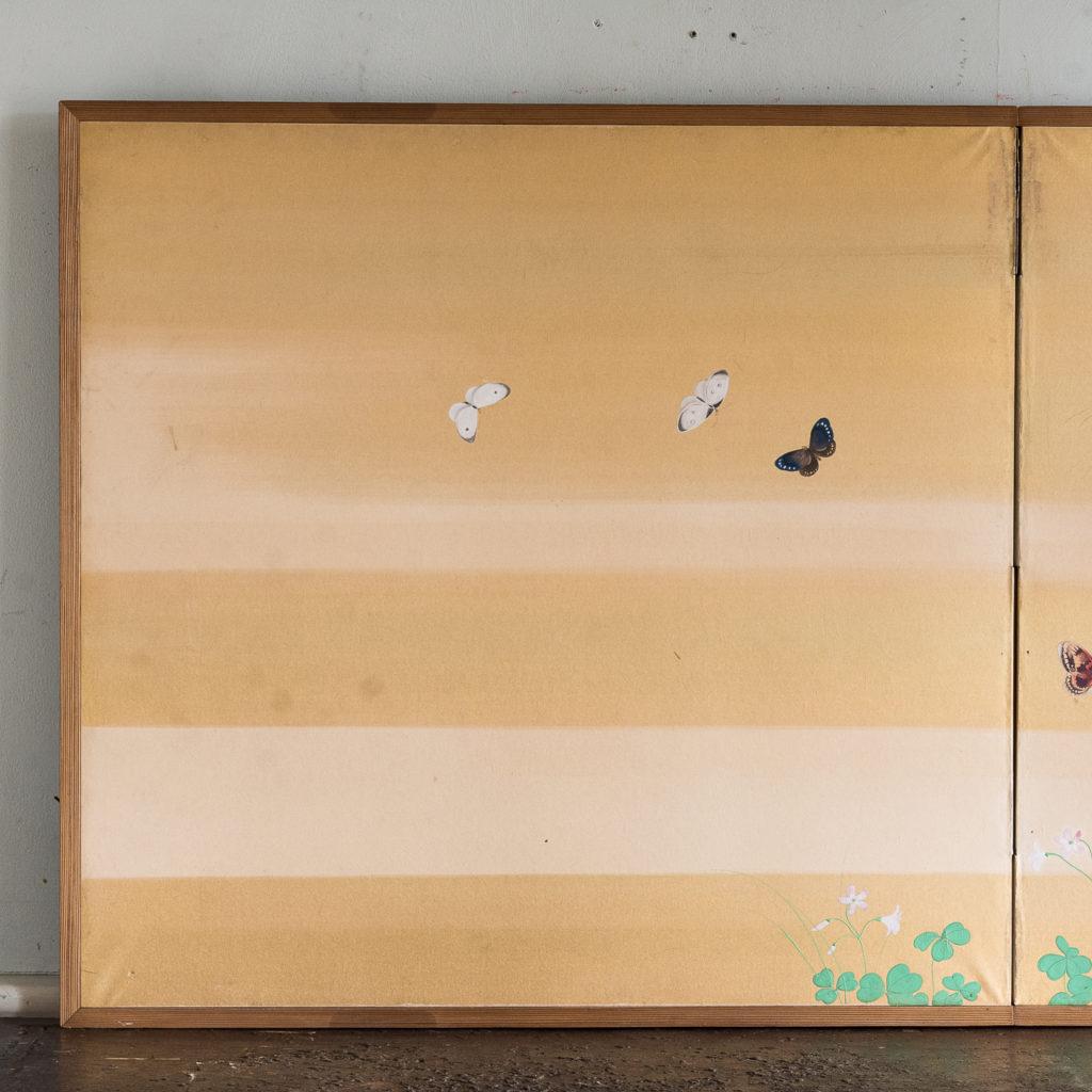 Hand-painted Furosaki-byobu screen of Butterflies, by Reiki Yamaguchi-139444